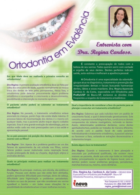 Entrevista para revista - Dra. Regina Costa