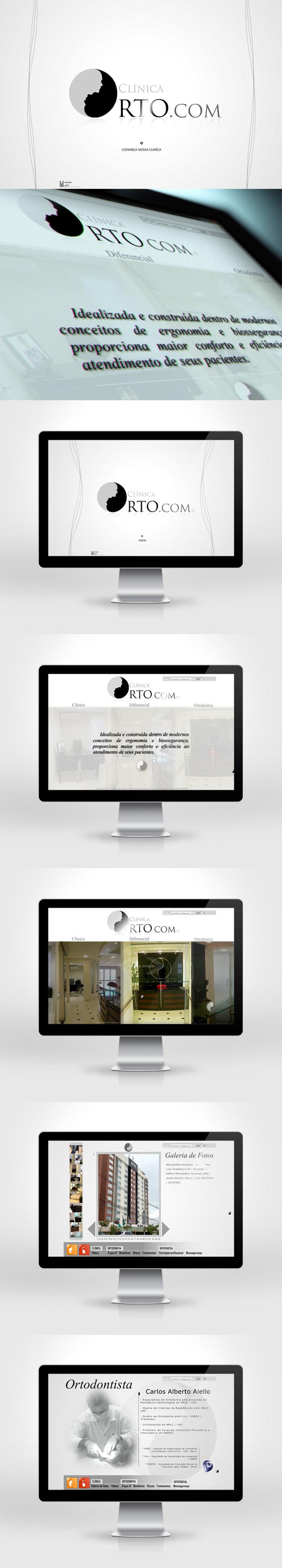 Site Institucional da Clínica Orto.com