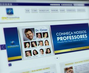 Site Institucional Gerenciável + Área Restrita – Curso de Orto Preventiva Prof. Omar Gabriel