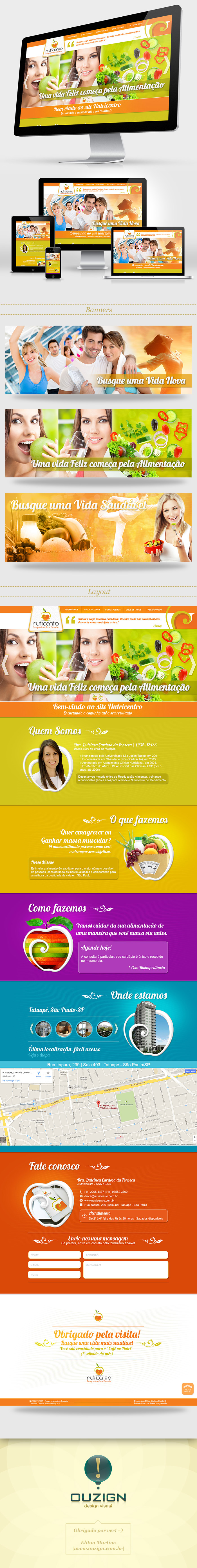 Layout para Site | Nutricentro