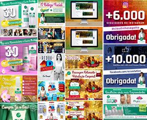 Criações para Redes Sociais 2015-2016| Ana Cláudia Segatto – Dermaticista